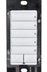 KC240-WH tastiera wireless configurabile da 2 a 7 tasti colore bianco