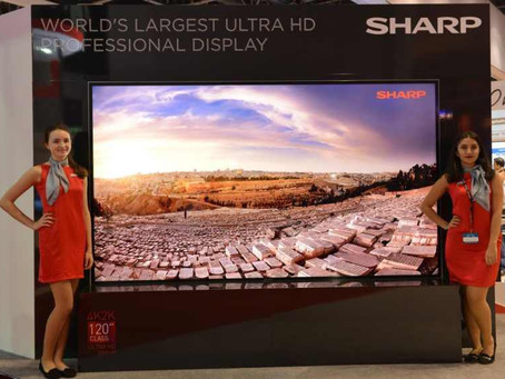 SHARP produce il più grande display 8K LCD al mondo