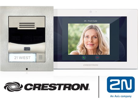 Comunicazione sicura e integrata attraverso il Touch screen Crestron  e  il videocitofono 2N