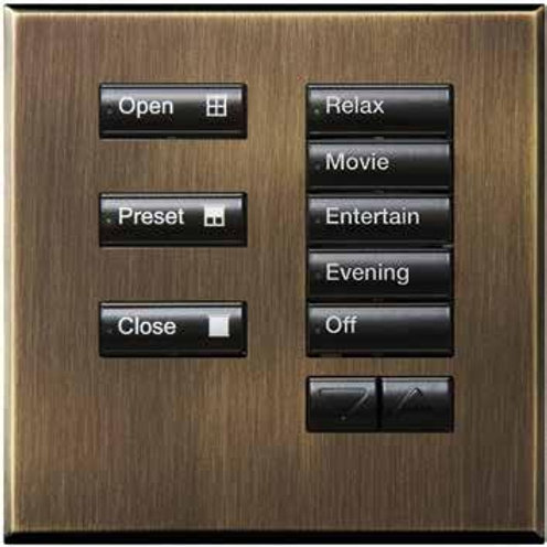 HQWA-KP5-DN-WH Architrave 7-Button, 5 LED Base Unit with WH Buttons and Door Nar
