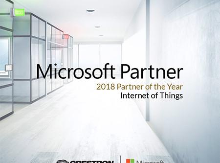 Crestron vince il premio Microsoft Global IoT Partner of the Year 2018