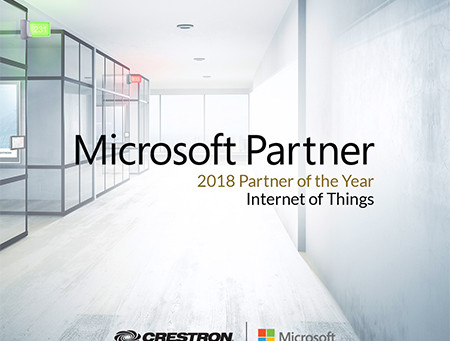 Crestron vince il premio Microsoft Global IoT Partner of the Year 2018