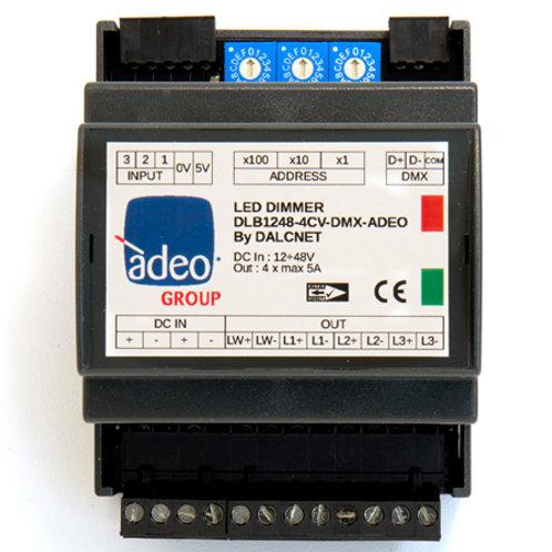 DLB1248-4CV-DMX-ADEO Led Dimmer 4 canali DMX o 0-10V