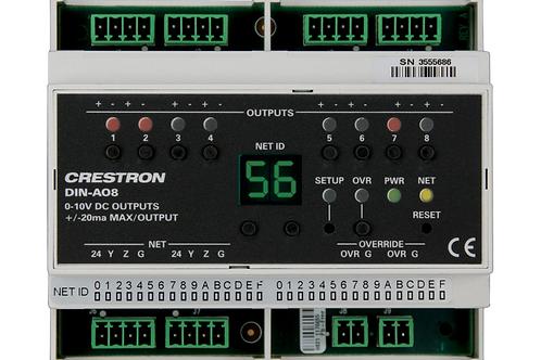 DIN-AO8 Modulo 0-10V a 8 canali