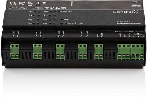 DIN-8DIM-E modulo dimmer luci su barra DIN, 8 controlli