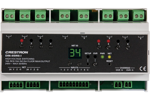 DIN-8SW8 Modulo relè a 8 canali + 8 ingressi digit
