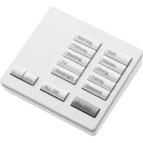 10-Button HQK-T10RL-XX 10-button keypad with master on/off and raise/lower, 868