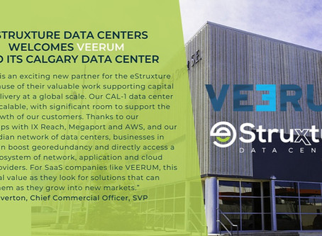 VEERUM partners with eStruxture Data Centers to deliver its asset visualization platform