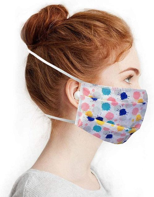 Masques en Tissus, Lot Multicolore lavables et réutilisables