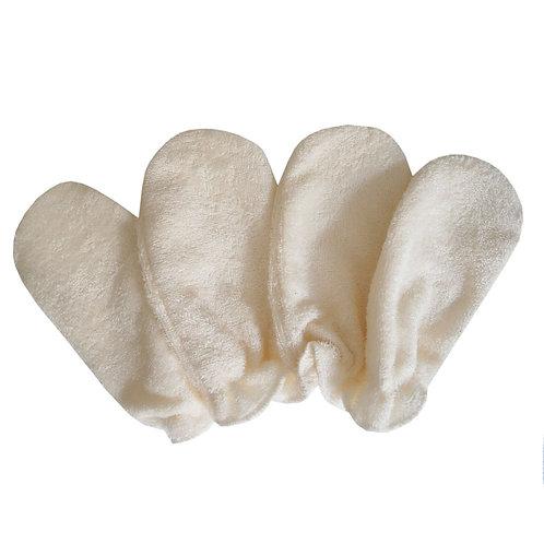 Gants Démaquillants lavables en BAMBOU, lot de 4