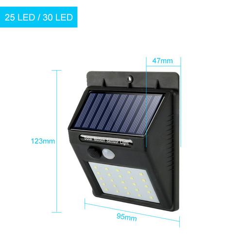 Lampe solaire 30 led avec détecteur de mouvement (PIR)