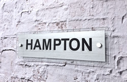 Hampton White Polished Glass