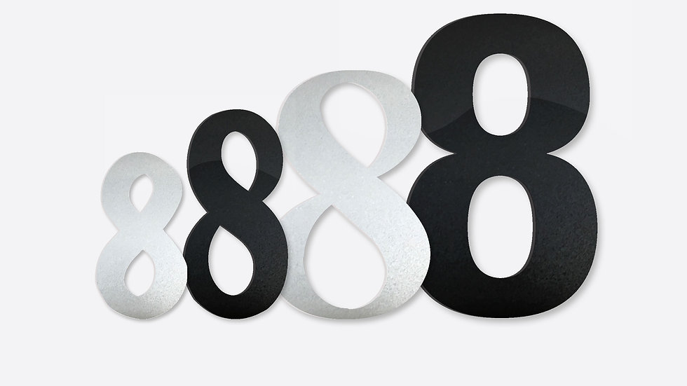 Reflective Laser Cut Acrylic Numbers