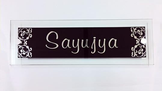 Decorative Glass Sign
