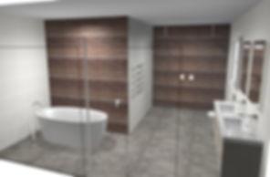 3D bathrom design rendering