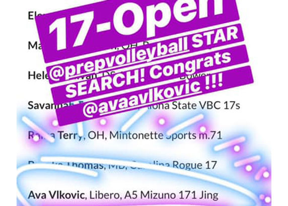 pope website ava open prep volleyball st