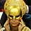 """Thumbnail: Mask """"Liberty – Gold"""" Price on request"""