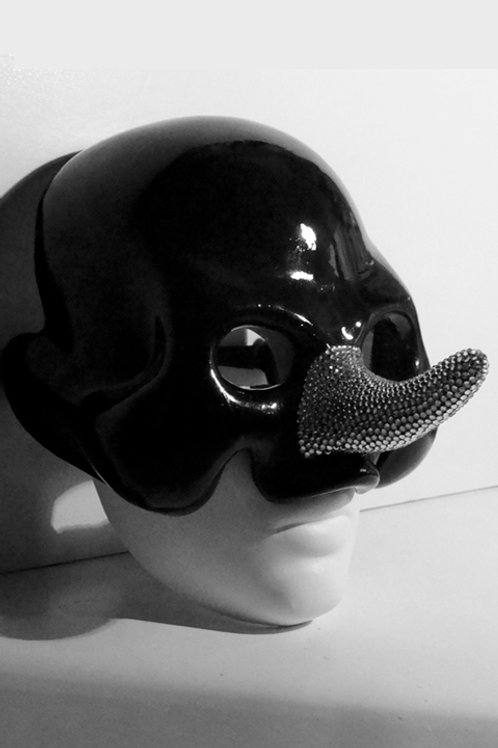 "Mask ""Pinocchio Skull with Swarovski"" Price on request"