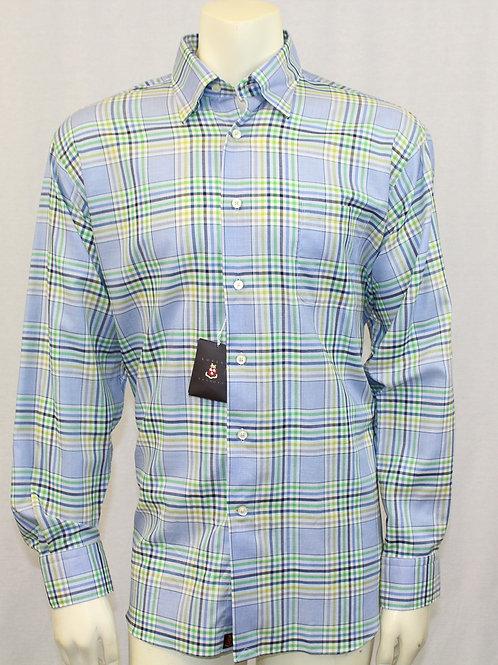 Robert Talbott Multi Color Long Sleeve Sport Shirt Large