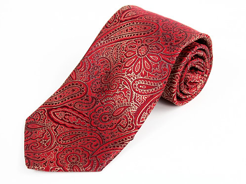 Pronto Uomo Red Paisley Tie