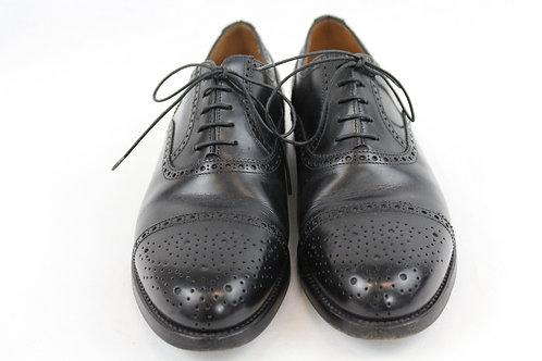 Franceschetti Black Cap Toe Oxford Shoes 9.5