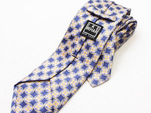 Ike Behar Blue Silk Tie