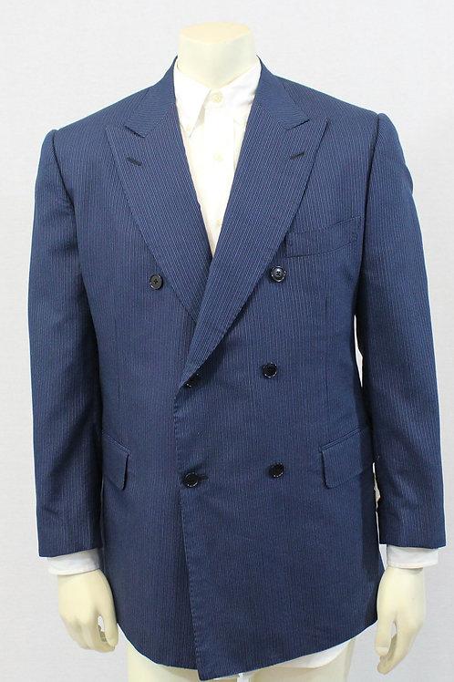 ISAIA Napoli Blue Seersucker Sport Coat 44 Regular