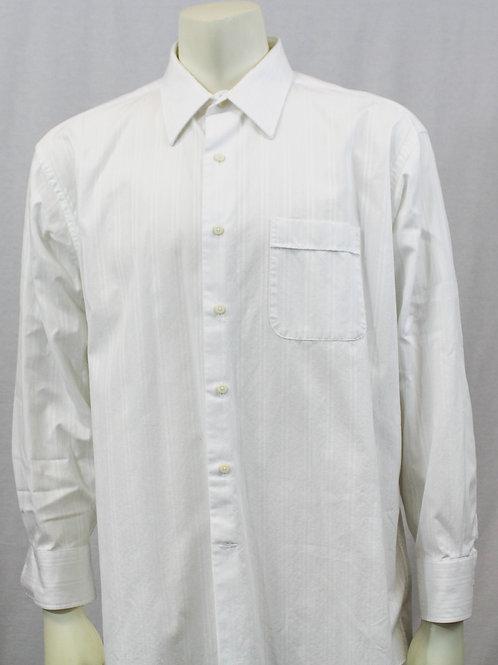 Tommy Bahama Long Sleeve White Dress Shirt Large 17 X 33