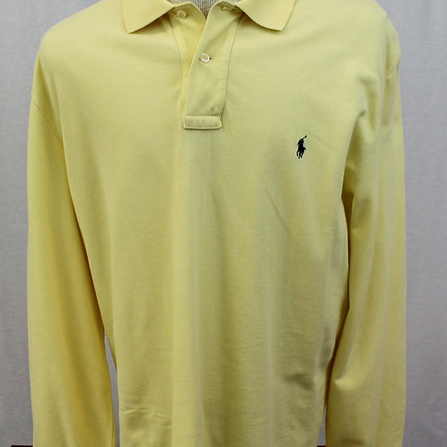 Long Sleeve Yellow Pullover Shirt Large