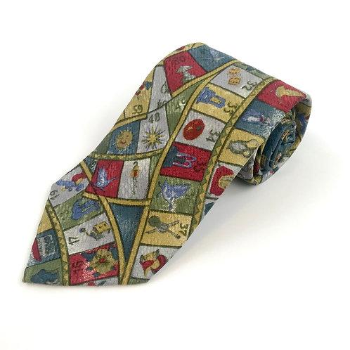 Ermenegildo Zegna Roulette Theme Tie