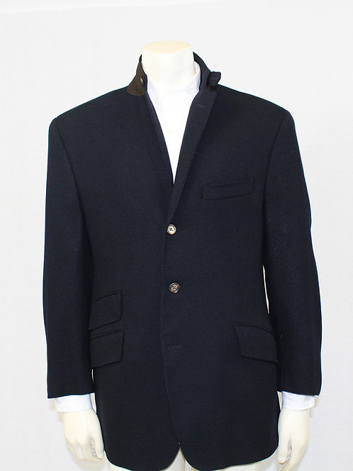David Chu Custom Sport Coat w/Leather Trim 42 Regular