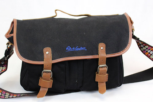 Robert Graham Black Canvas Messenger Bag