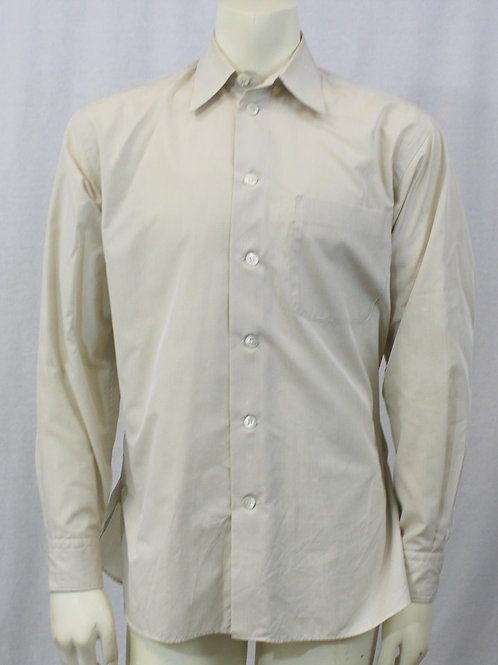 Giorgio Armani Solid Beige Dress Shirt 15.5 X 33