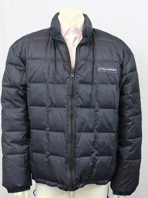 Ralph Lauren Navy Puffer Jacket Reversible XL
