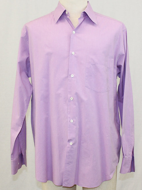 Barney's Lavender Long Sleeve Dress Shirt Large