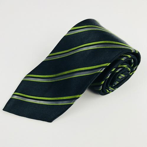 Giorgio Armani Black & Lime Striped Tie