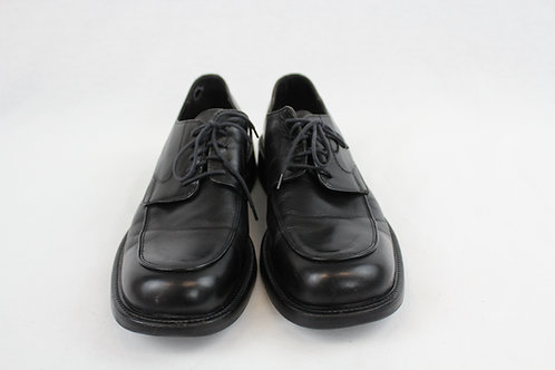 Kenneth Cole Black Oxford Apron Toe Shoes 10.5