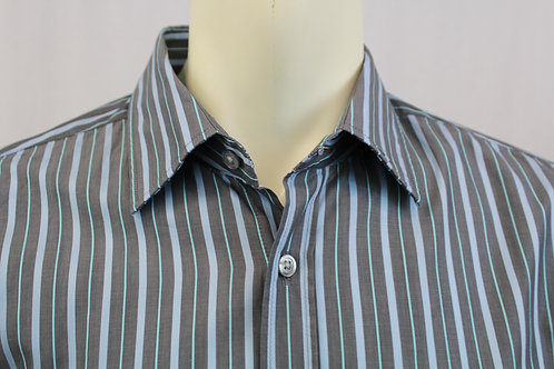 Hugo Boss Stripe Dress Shirt Large