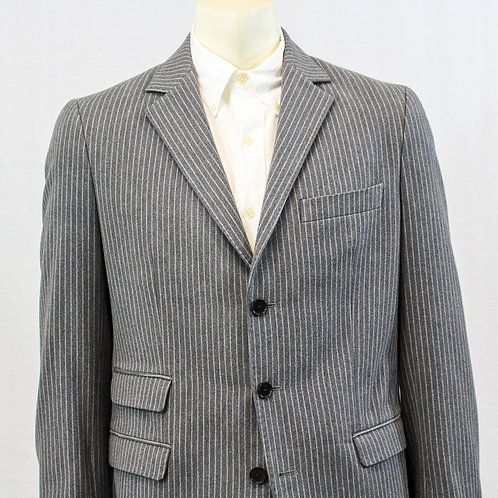 Kuhlman Gray/Black Stripe 100% Wool Casual Sport Coat 42 Regular