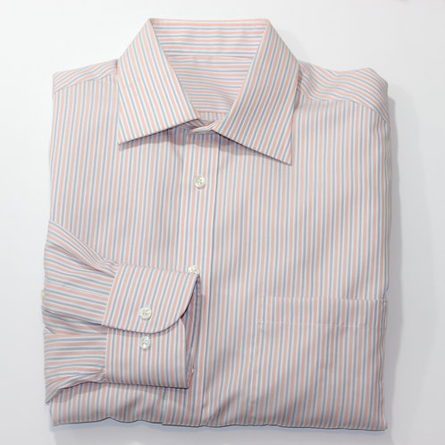 Custom Tailored Striped Dress Shirt Medium
