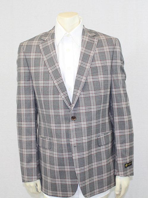 Vitale Barberis Canonico Plaid Sport Coat 42 Long