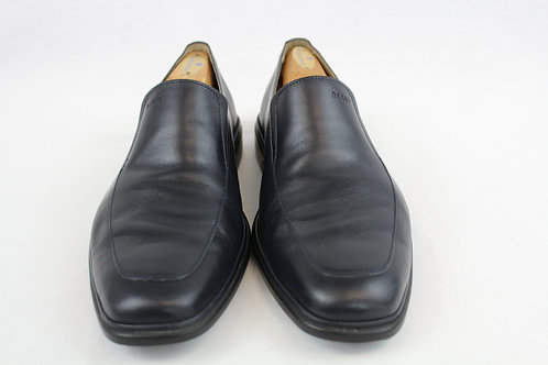 Bally Deep Navy Loafer Shoes 7.5