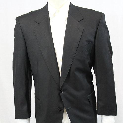 Loro Piana Black Sport Coat 52 Regular