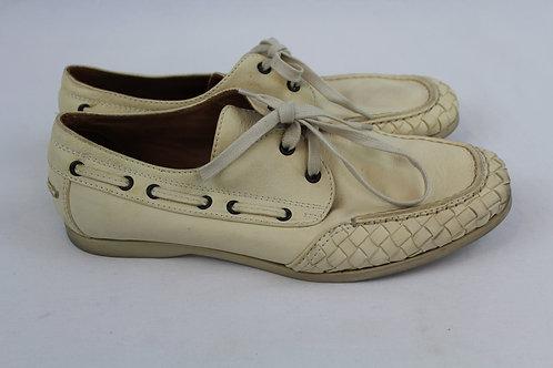 Botega Veneta Cream Boat Shoes 9