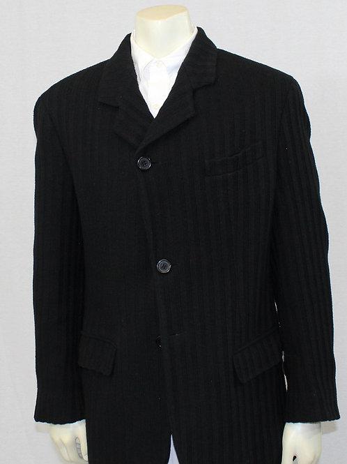 Dolce & Gabbana Black Knit Sport Coat Medium