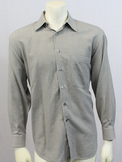 Brioni Long Sleeve Herringbone Weave Shirt Medium