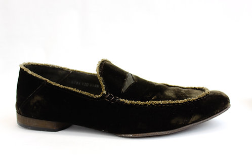 Donald J. Pliner Brown Velvet Loafer Size 11.5