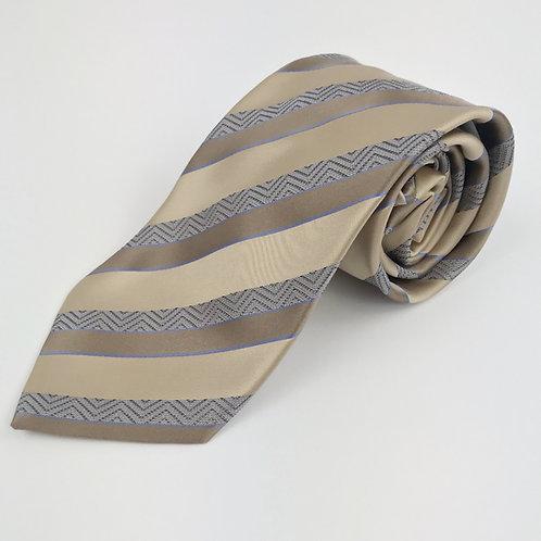 Giorgio Armani Tan Striped Tie
