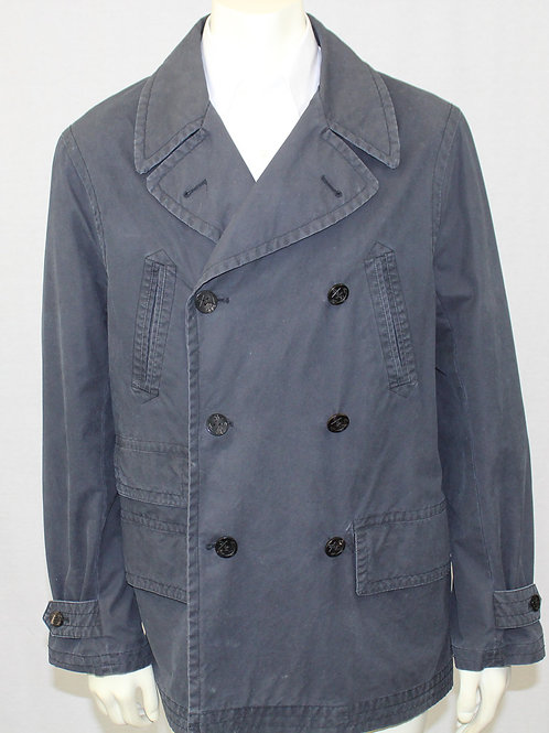 Ralph Lauren Navy Trench Coat Large