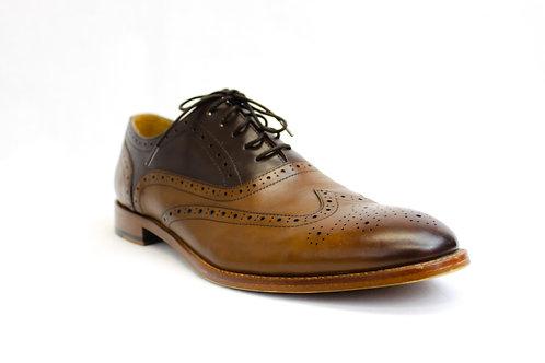 Warfield & Grand Brown Wingtip Oxford Size 12